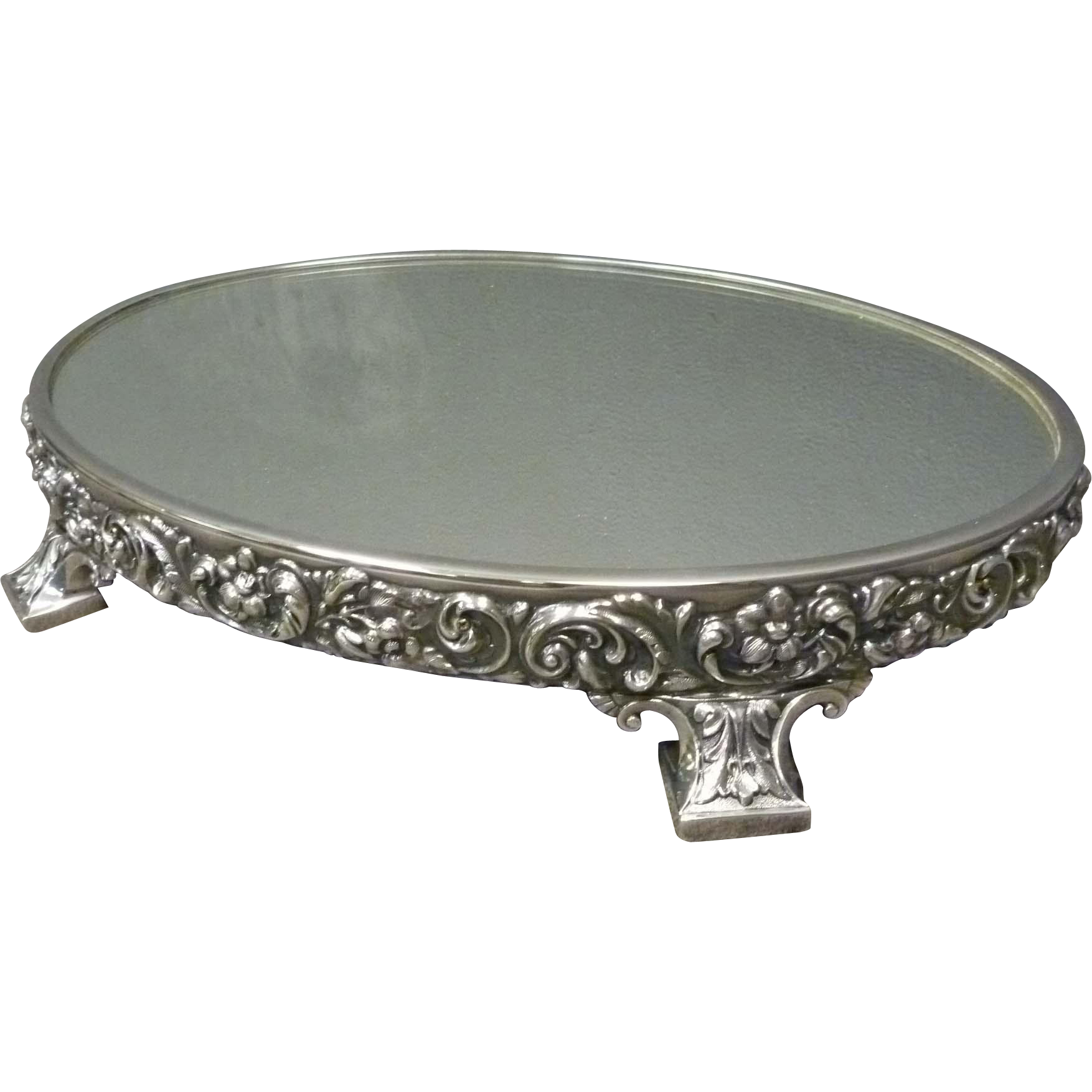 Oval Silver Plated Plateau or Vanity Tray by Reed Barton  : W1391L from www.rubylane.com size 1754 x 1754 png 1074kB
