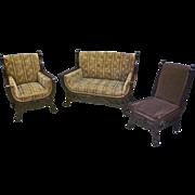 Mahogany 3 Piece Parlor Set