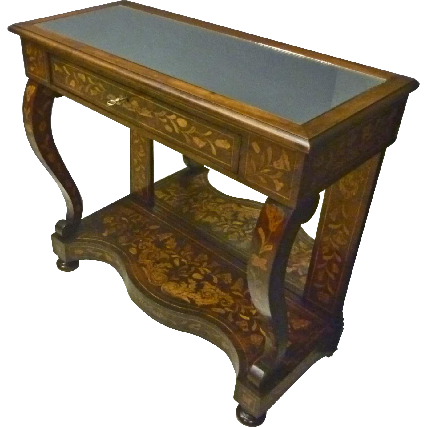 Inlaid Console, Pier Table with Mirrors