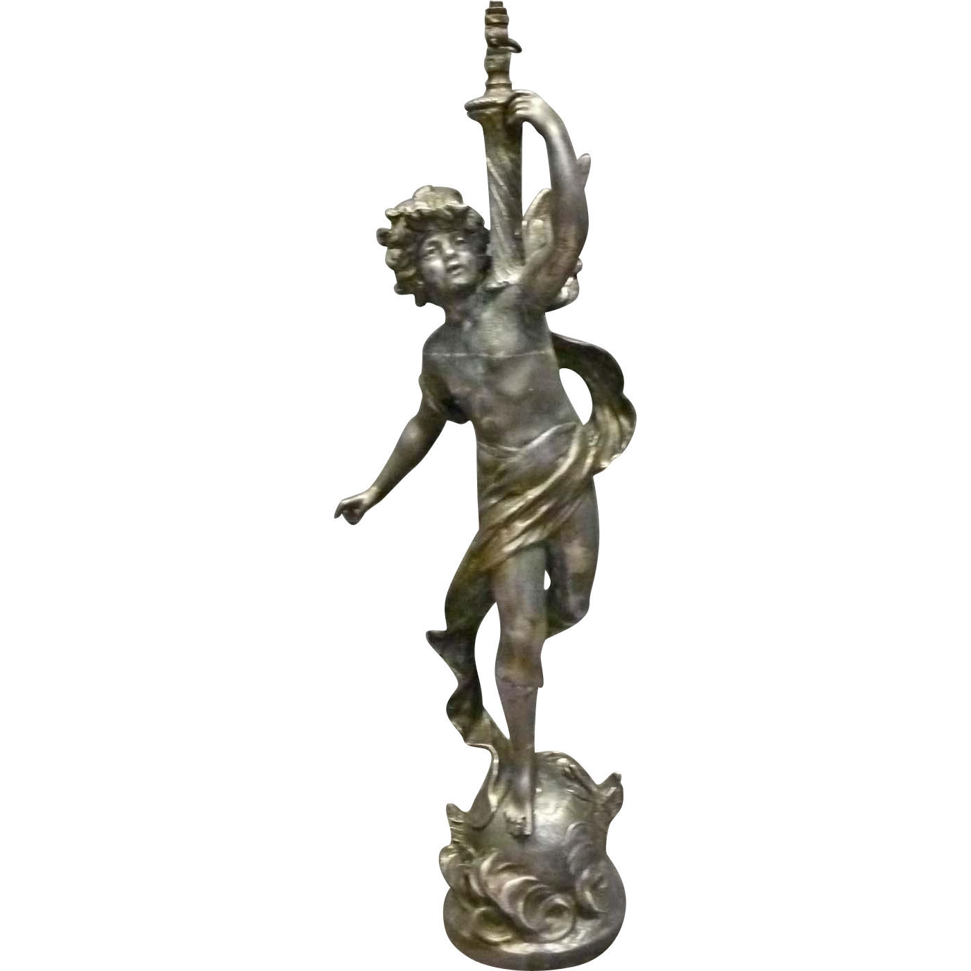 Moreau Newel Post Lamp of Angel