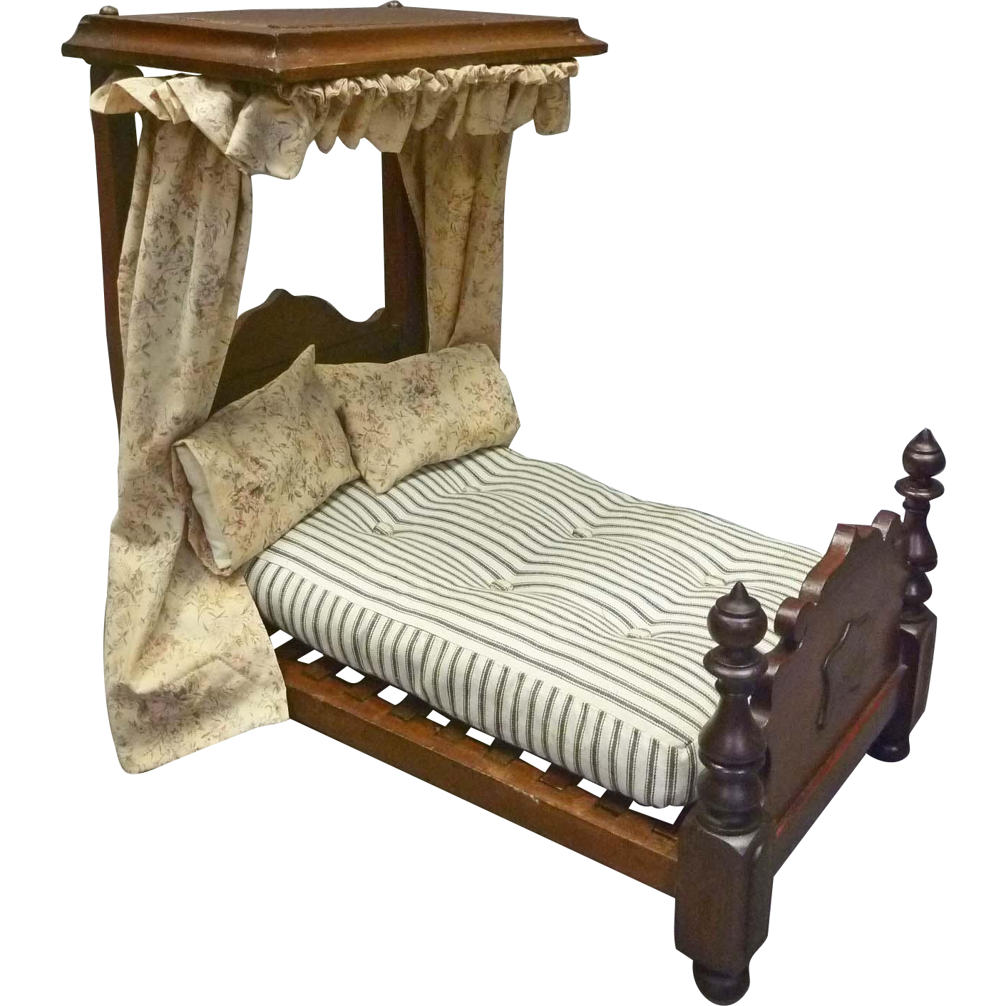 Victorian 1/2 Tester Canopy Doll Bed