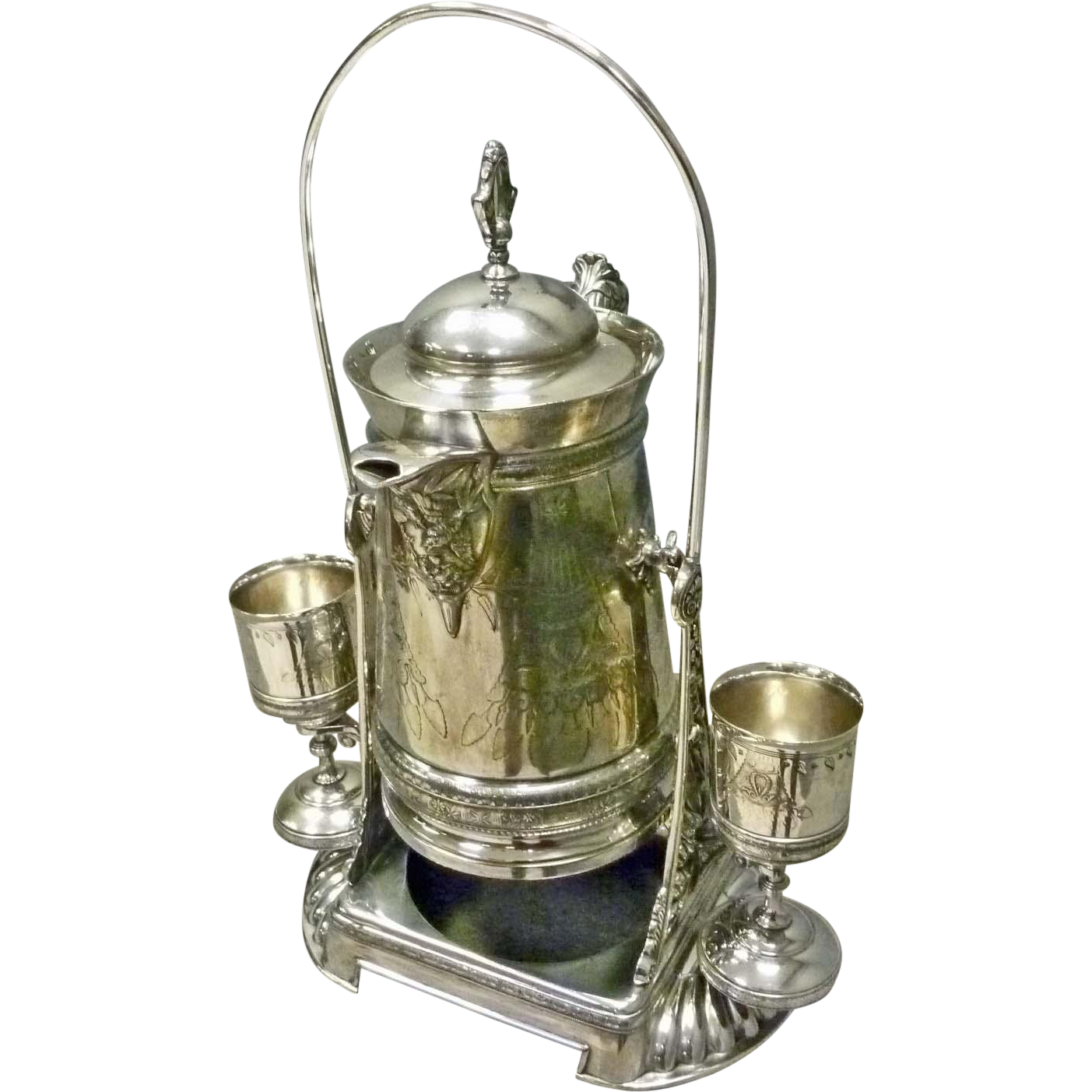 Silver Plate Victorian Water Pitcher