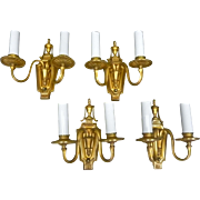 Set of 4 Bronze Sconces