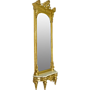 Victorian Gold Leaf Pier or Hall Mirror