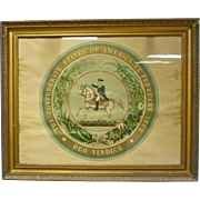Seal of the Confederate States of America, Print
