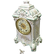 Porcelain Mantel Clock by Waterbury