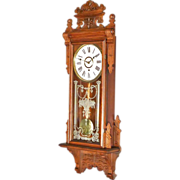 Victorian Hanging Clock by Gilbert