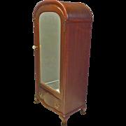 Small Mahogany Wardrobe with Beveled Mirror