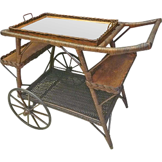 Wicker Tea Cart