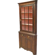 Pennsylvania Cherry Corner Cupboard