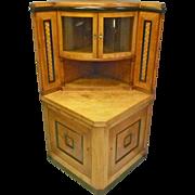 Biedermeier Style Corner Cabinet