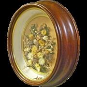 Victorian Round Shadow Box Frame
