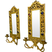 Pair of Jeweled Sconces