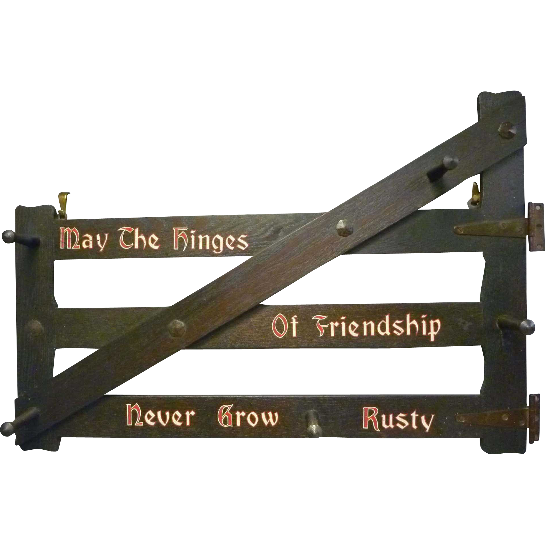 Arts & Crafts Coat Rack with Motto