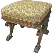 Walnut Victorian Footstool
