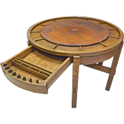 Oak Poker/Game Table, Arts and Crafts
