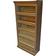 Quarter Sawn Oak Stacking Bookcase by Gunn
