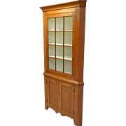 Pennsylvania Cherry 2 Piece Corner Cupboard