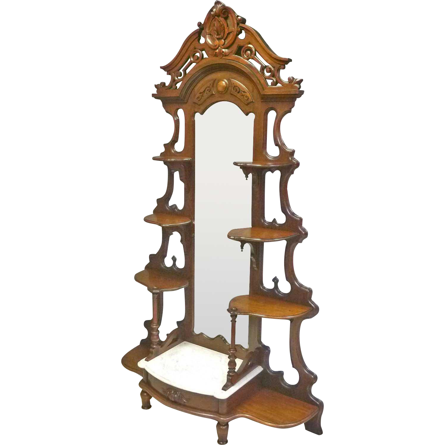 Victorian Etagere with Marble