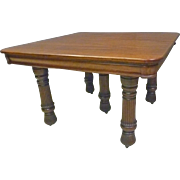 Square Mahogany Dining Table