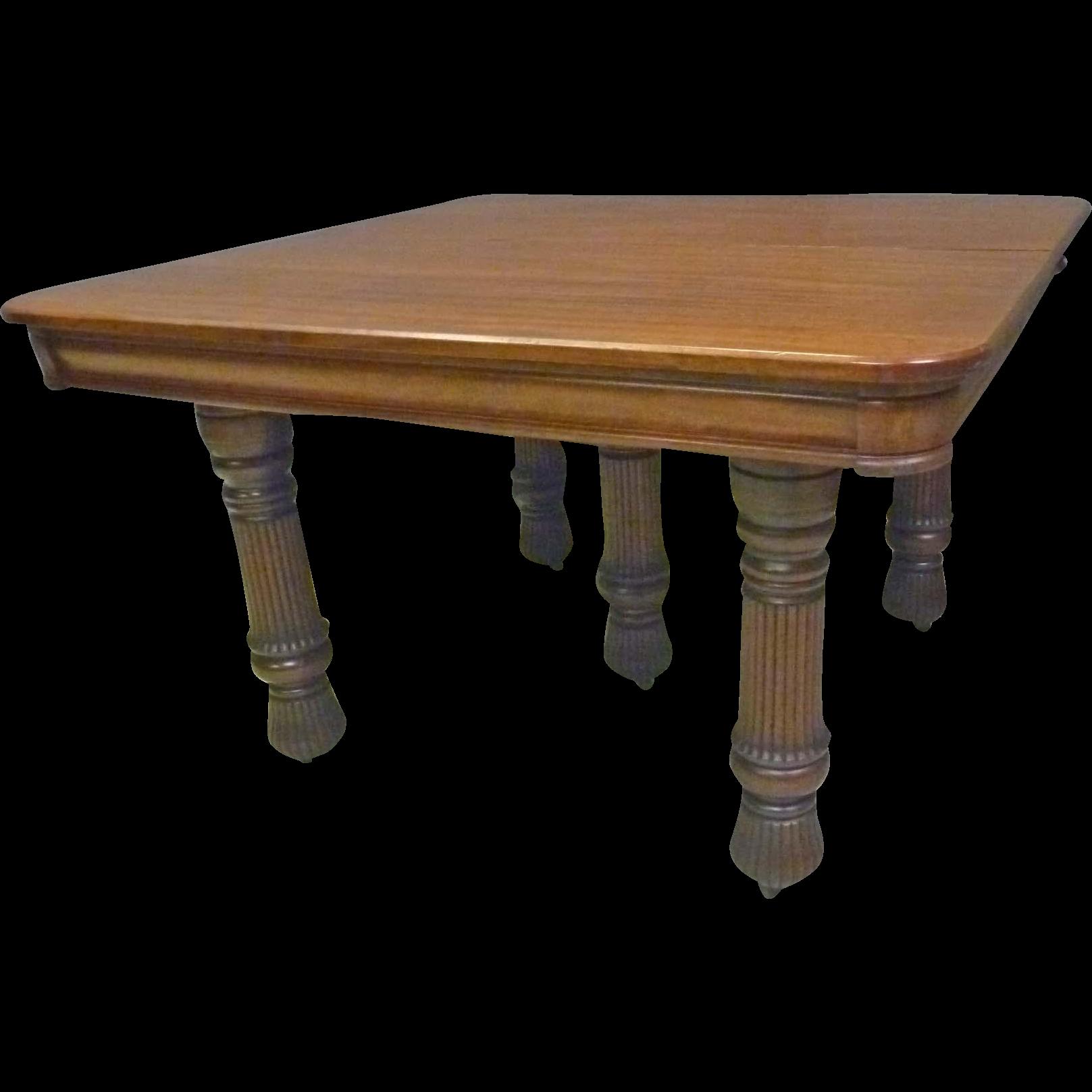 Square Mahogany Dining Table
