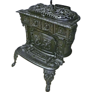 "Small Fancy Victorian Cast Iron Parlor Stove -""The Belle"""