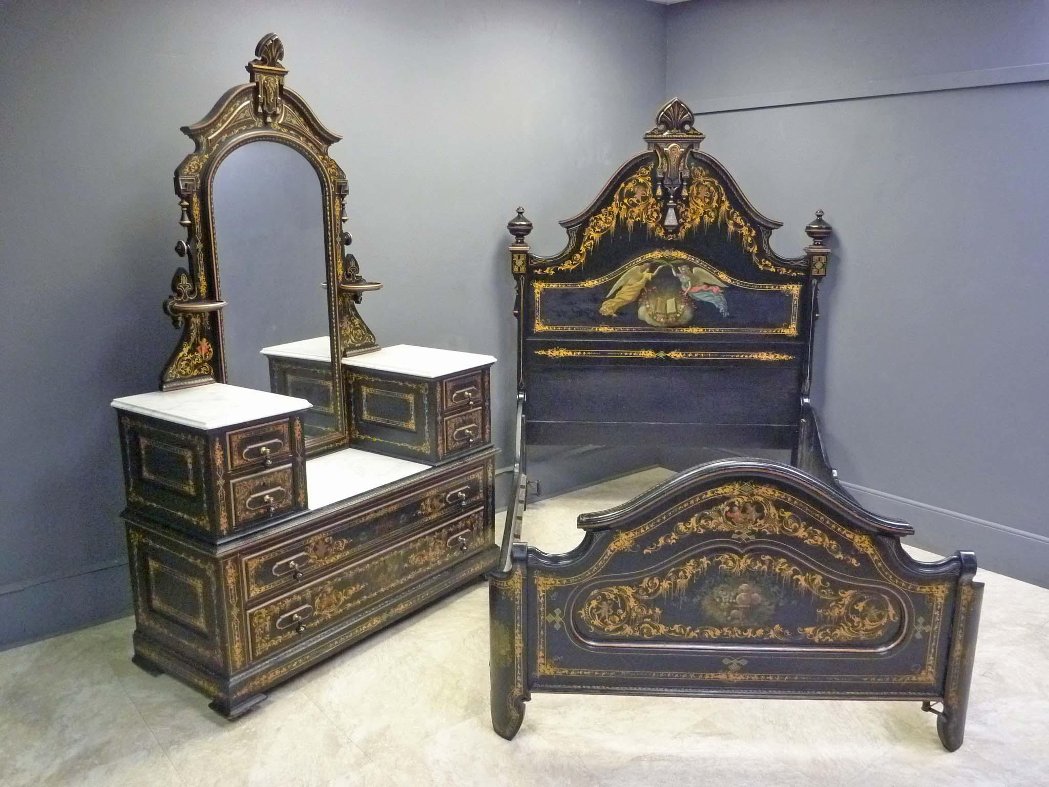 Rare Cottage Bedroom Set By Hart Ware Co Philadelphia From Antiquesonhanover On Ruby Lane