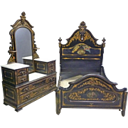 Rare Cottage Bedroom Set by Hart Ware & Co., Philadelphia