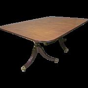 Mahogany Duncan Phyfe Style Dining Table