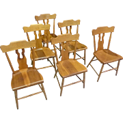 Set of 6 Boot Jack, Plank Bottom Dining Chairs
