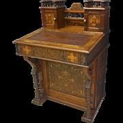 Aesthetic Victorian Davenport, Lady's Desk