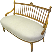 French Gilt Bench, Loveseat