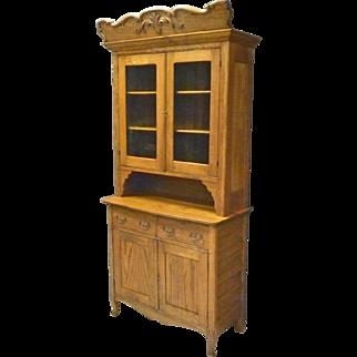 Oak Step Back Cupboard