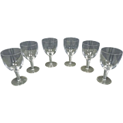 Air Twist Wine Glasses by Stuart, England