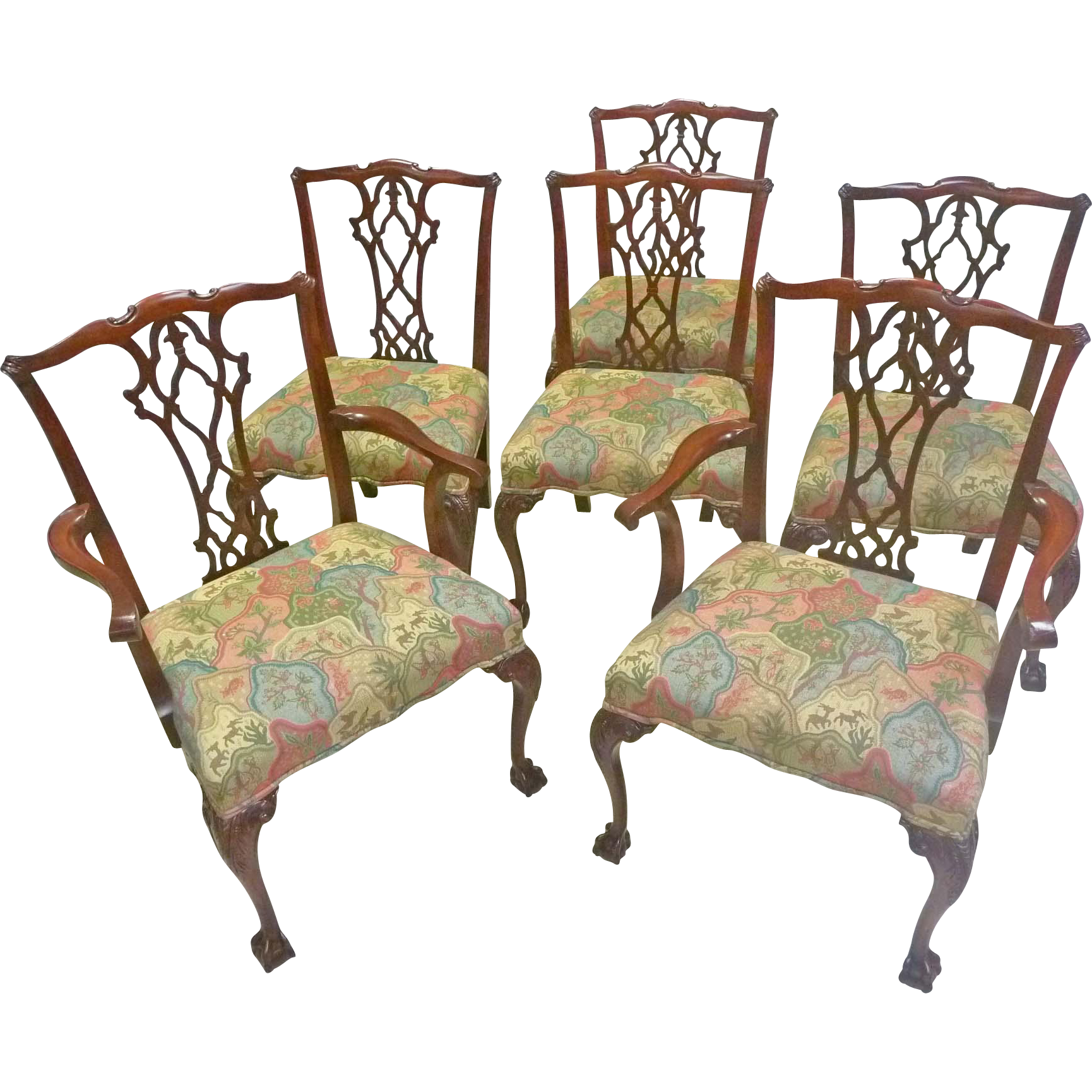 Set of 6 Chippendale Dining Chairs