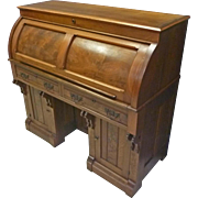 Victorian Cylinder Roll Desk