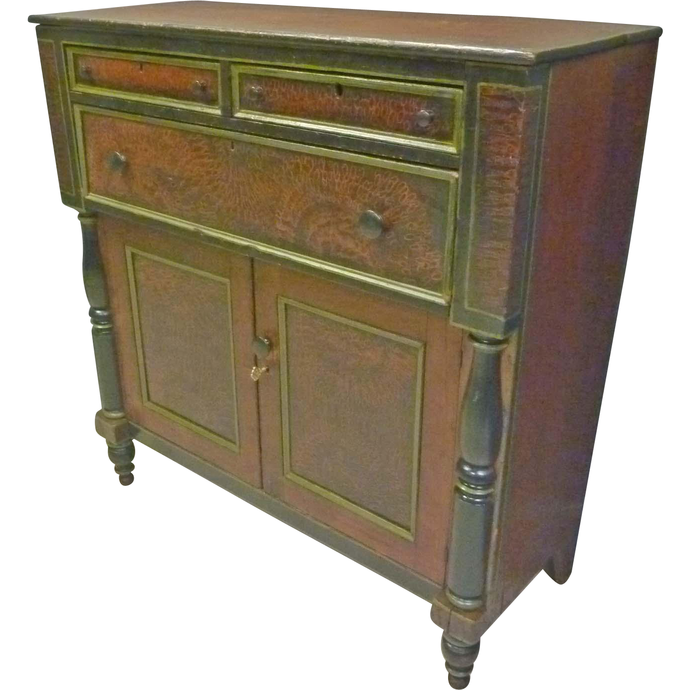 Paint Decorated Empire Server, Cabinet