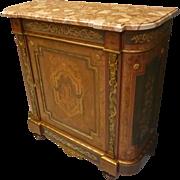 Vintage Marble Top Credenza, Cabinet