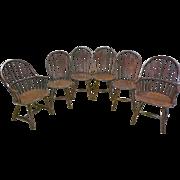 Set of 6 Oak Windsor Chairs