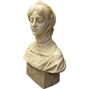 "Marble Bust ""Beatrice"" by Antonio Frilli"