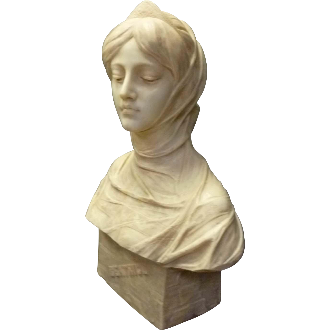 """Marble Bust """"Beatrice"""" by Antonio Frilli"""