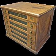 J.P. Coats' Spool Cabinet