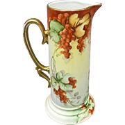 Bavarian Hand Painted Pitcher