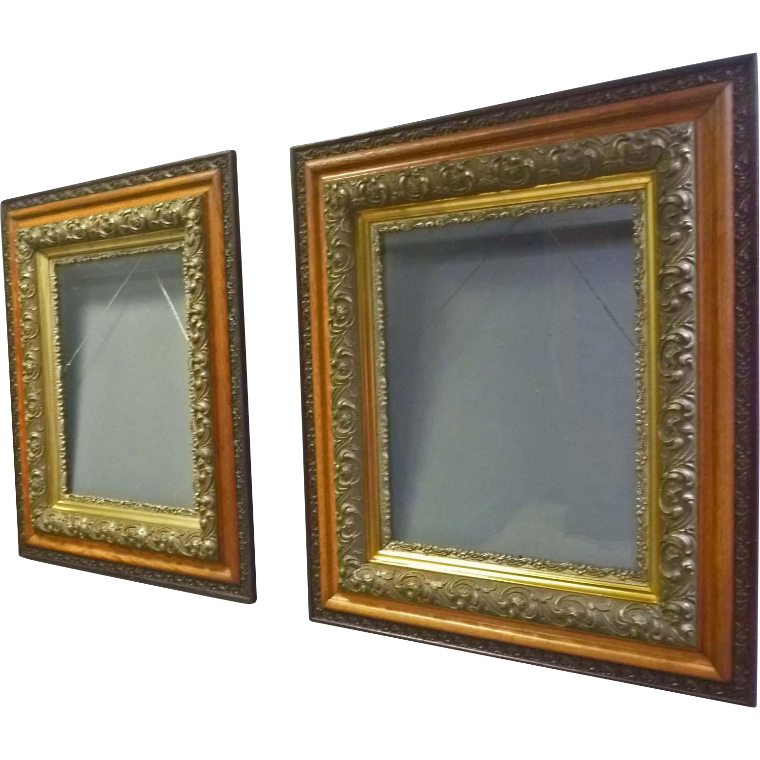Pair Oak Victorian Frames