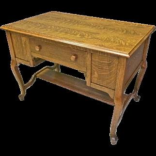 Unusual Oak Flat Top Desk