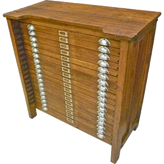Multi-Drawer Collector's/Type Cabinet, Typeset