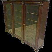 Mahogany 3 Door Classical Bookcase