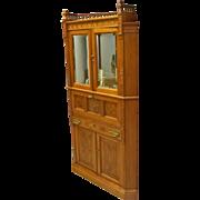 Rare Victorian Corner Cabinet with Desk
