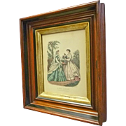 Deep Victorian Frame with Fashion Print