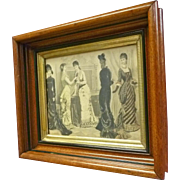 Victorian Frame with Godey Print